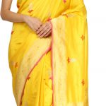 Gold Banarasi Sari with Woven Bootis and Brocaded Pallu