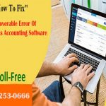 Steps To Fix Unrecoverable Error Of QuickBooks Accounting Software