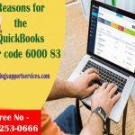 Reasons for the QuickBooks error code 6000 83