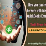 How you can change the work with hosting of QuickBooks Enterprise?