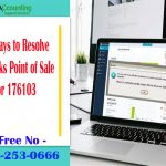 Quick Ways to Resolve QuickBooks Point of Sale Error 176103