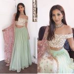 Mint Green Color Designer Wedding Wear Lehenga Choli