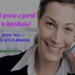How do I precise a payroll error in QuickBooks?