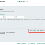 How to activate the Kaspersky free trial?