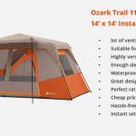Instant Cabin Tent Ozark Trail 11 Person 3 Rooms