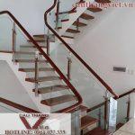 Sample beautiful herringbone staircase for modern home