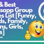 {Awesome} WhatsApp Group Names List [Friends,Funny,Family]