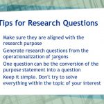 Useful Tips To Develop The Research Questions