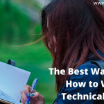 The Best Way to Know How to Write a Technical Report