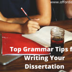 Top Grammar Tips for Writing Your Dissertation