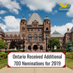 Ontario Received Additional 700 Nominations for 2019