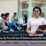Explore The Pros And Cons Of Distance Learning BCA Course