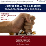 FREE 5-session tobacco cessation program.