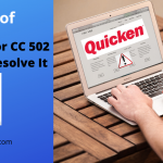 A way To Resolve It Quicken Error Cc 502