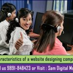 Characteristics of a website designing company