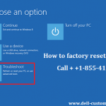 How to factory reset dell laptop?