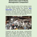Importance Of Spreading Awareness About Data Destruction And E-Waste Management Companies