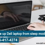 How to wake up Dell laptop from sleep mode?