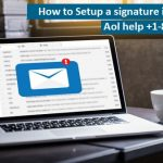 How to set up a signature in AOL mail?