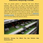 Disposing IT Assets With Certified Electronic Recycling Provider