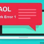 How to fix Blerk error 1 in AOL Mail?