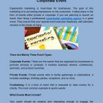 The Best Way To Promote Private Or Corporate Event
