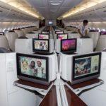 Business Class flight to paris
