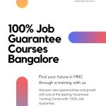 100% Job Guarantee Courses in Bangalore