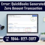quickbooks generated zero amount transaction for bill payment stub