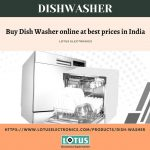 Quality Dish Washer Online At Best Price – Lotus Electronics