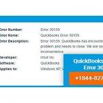 QuickBooks Payroll Error 30159