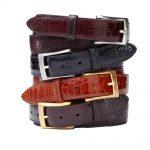 Men's Ostrich Belt – Genuine Exotic Ostrich Skin Leather Belt- Rudy Lozano Belt Store