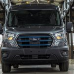 The new 2022 Ford E-Transit electric van