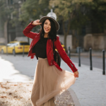 How to wear long skirts without looking frumpy?