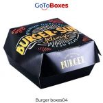 Get Custom Printed Burger Boxes Wholesale at gotoboxes