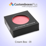 Custom Cream Boxes Packaging With Free Shipping