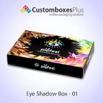 Get Cosmetic Eyeshadow Box Wholesale at CustomBoxesPlus