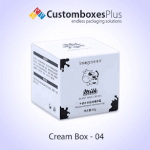 Advanced Custom Cream Boxes Wholesale for your shop's counters