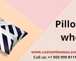 Custom pillow box available at wholesale rate