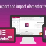 export and import elementor templates with images