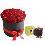 24 Red Roses Box and Patchi Chocolates Online Delivery